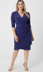 PRE ORDER: Ciara Cinch Dress - Cobalt Blue
