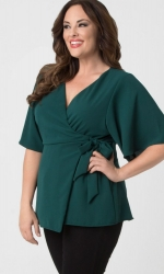 PRE ORDER: Chic Chiffon Blouse - Green Ivy
