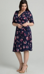 PRE ORDER: Essential Wrap Dress - Pink Poppy Print