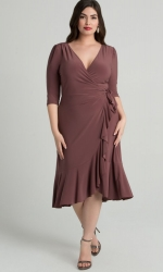 PRE ORDER: Whimsy Wrap Dress - Mauve Mist