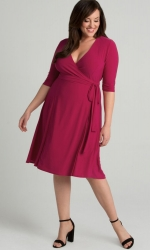 PRE ORDER: Essential Wrap Dress - Rose