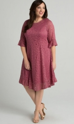 PRE ORDER: Livi Lace Dress - Dusty Rose