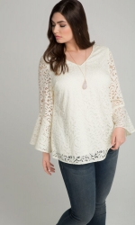 PRE ORDER: Lauren Lace Top - Antique Ivory