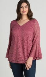 PRE ORDER: Lauren Lace Top - Dusty Rose