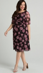 PRE ORDER: Katarina Mesh Dress - Mauve Bloom Print