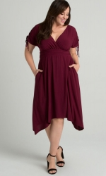 PRE ORDER: Tessa Ruched Dress - Sangria