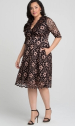 PRE ORDER: Mon Cherie Lace Dress - Rose Gold
