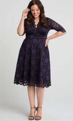PRE ORDER: Mon Cherie Lace Dress - Violet Noir