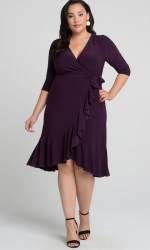 PRE ORDER: Whimsy Wrap Dress - Plum Passion