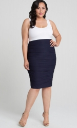 PRE ORDER: Helena Ruched Skirt - Nouveau Navy