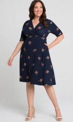 PRE ORDER: Gabriella Dress - Navy Posey