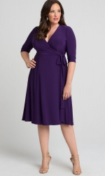 PRE ORDER: Essential Wrap Dress - Amethyst