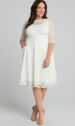 PRE ORDER: Pretty in Lace Wedding Dress - Ivory