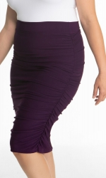 PRE ORDER: Helena Ruched Skirt - Plum