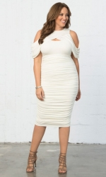 PRE ORDER: Melissa Midi Dress - Porcelain