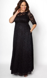 PRE ORDER: Leona Lace Gown - Black Diamond