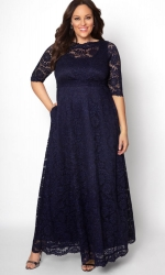PRE ORDER: Leona Lace Gown - Sparkling Sapphire