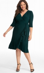 PRE ORDER: Whimsy Wrap Dress - Hunter Green