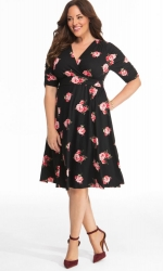 PRE ORDER: Gabriella Dress - Fall Rose Motif