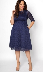 PRE ORDER: Lacey Cocktail Dress - Nouveau Navy