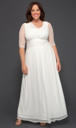 PRE ORDER: Meant To Be Chic Wedding Dress - Ivory