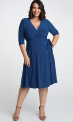 PRE ORDER: Essential Wrap Dress - Royal Blue