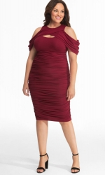 PRE ORDER: Bianca Ruched Dress - Ruby