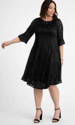 PRE ORDER: Livi Lace Dress - Onyx