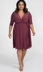 PRE ORDER: Essential Wrap Dress - Berrylicious