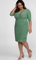 PRE ORDER: Ciara Cinch Dress - Sage