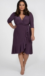 PRE ORDER: Whimsy Wrap Dress - Grape