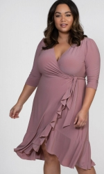 PRE ORDER: Whimsy Wrap Dress - Soft Rose