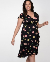 PRE ORDER: Phoebe Flounce Wrap Dress - Citrus Twist