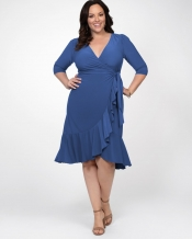 PRE ORDER: Whimsy Wrap Dress - Summer Blue