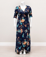 PRE ORDER: Meadow Dream Maxi Dress - Blue Floral Print