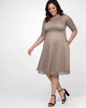 PRE ORDER: Lacey Cocktail Dress - Champagne
