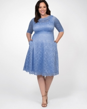 PRE ORDER: Lacey Cocktail Dress - Morning Blue