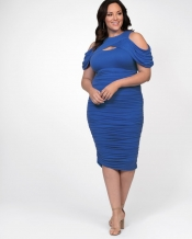 PRE ORDER: Bianca Ruched Dress - Summer Blue