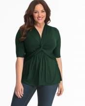 PRE ORDER: Caycee Twist Top - Hunter Green