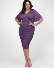 PRE ORDER: Rumor Ruched Dress - Lavender Dreams