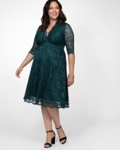 PRE ORDER: Mademoiselle Lace Dress - Emerald Green