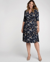 PRE ORDER: Essential Wrap Dress - Golden Floral Print
