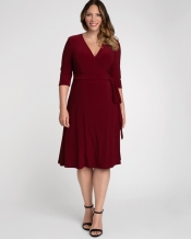 PRE ORDER: Essential Wrap Dress - Burgundy