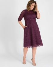 PRE ORDER: Lacey Cocktail Dress - Plum