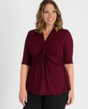 PRE ORDER: Caycee Twist Top - Burgundy