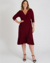PRE ORDER: Whimsy Wrap Dress - Burgundy