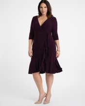 PRE ORDER: Whimsy Wrap Dress - Plum