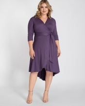 PRE ORDER: Winona Hi-Lo Wrap Dress -  violet Haze