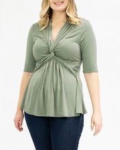 PRE ORDER: Caycee Twist Top - Thyme