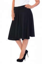 PRE ORDER: Pretty Pleated Flared Skater Skirt - Black